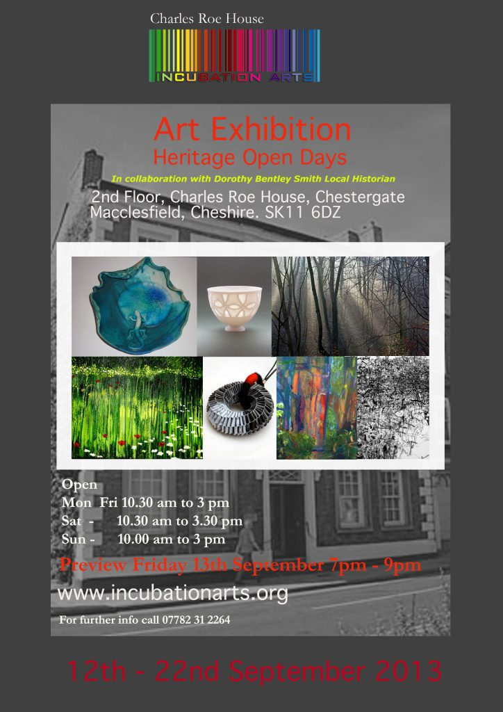 Heritage Open Days Exhibition at Charles Roe House – ArtsXstra / Incubation Arts
