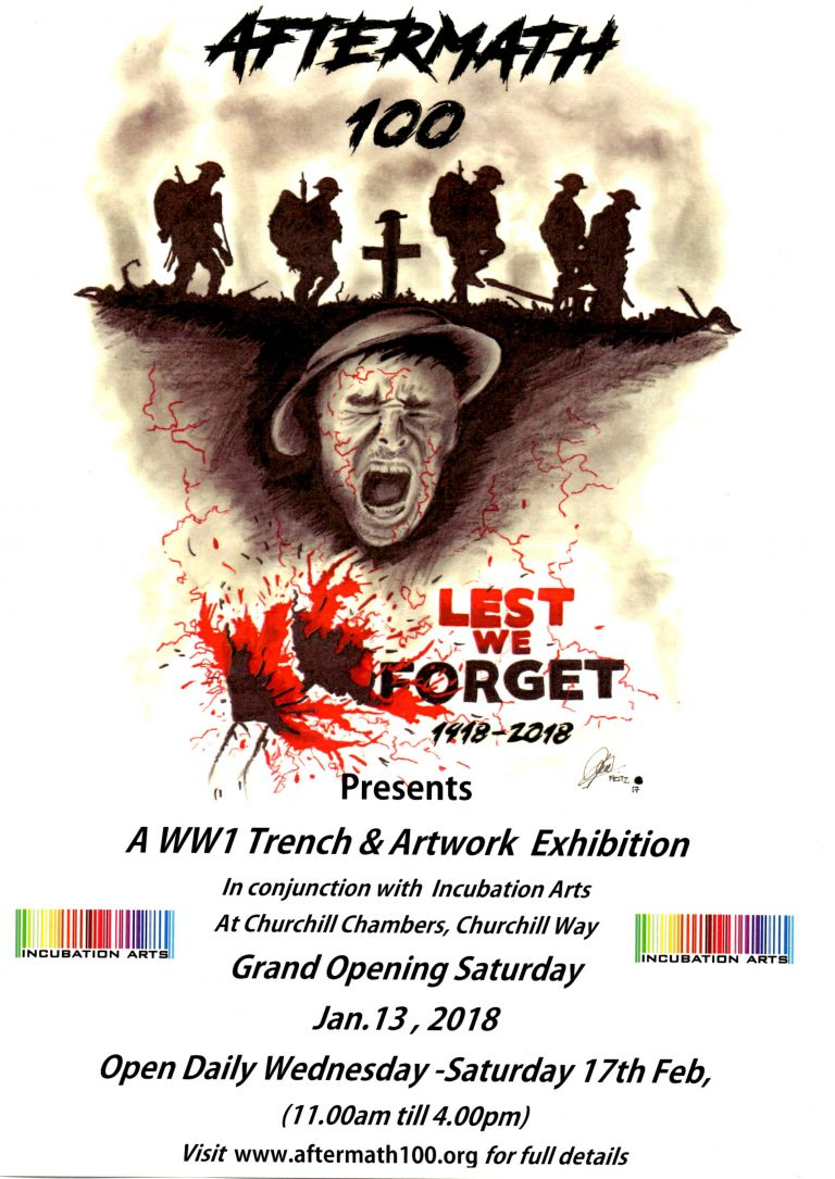 WW1 Trench Installation 'Aftermath' & Art Exhibition