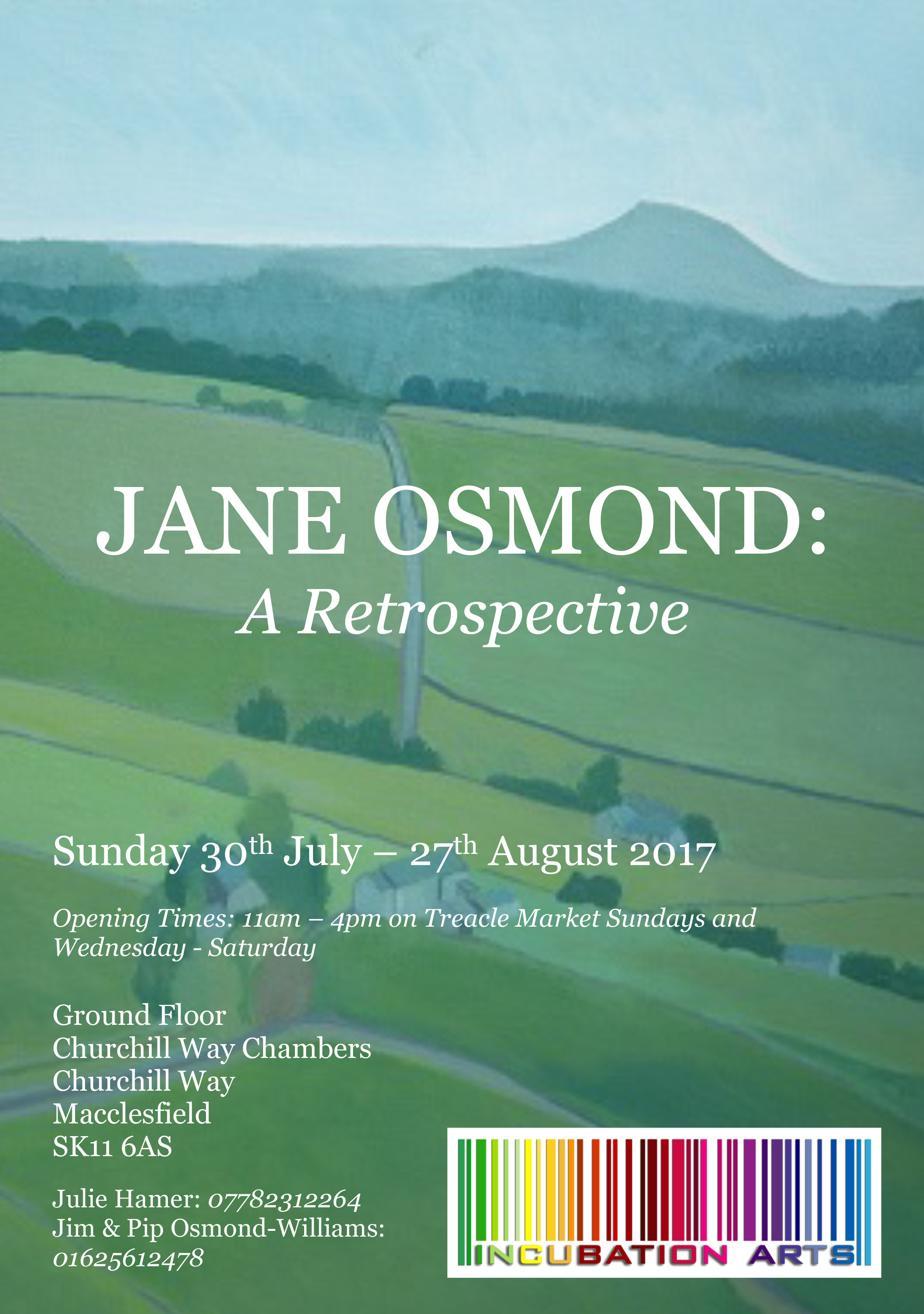 Retrospective Jane Osmond July 30th to 27th August 2017